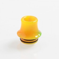 810 Replacement Drip Tip for RDA / RTA / Sub Ohm Tank Atomizer - Yellow, Resin, 18mm, Glow-in-the-Dark