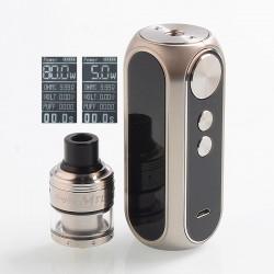 Authentic OBS Cube 80W 3000mAh VW Mod + Engine MTL RTA Kit - Chrome, 5~80W, 2ml, 24mm Diameter