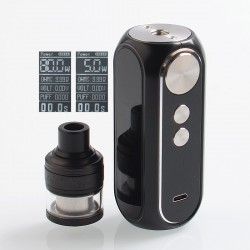 Authentic OBS Cube 80W 3000mAh VW Mod + Engine MTL RTA Kit - Black, 5~80W, 2ml, 24mm Diameter