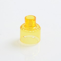 YFTK Replacement 510 Drip Tip + Top Cap for Citadel Style RDA Rebuildable Dripping Atomizer - Yellow, PC