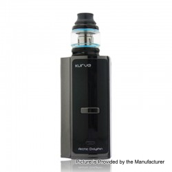 Authentic Arctic Dolphin Kurve 220W TC VW Box Mod + Sub Ohm Tank Kit - Gun Metal, 5~220W, 2 x 18650, 2ml, 0.2 Ohm