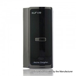 Authentic Arctic Dolphin Kurve 220W TC VW Variable Wattage Box Mod - Gun Metal, 5~220W, 2 x 18650