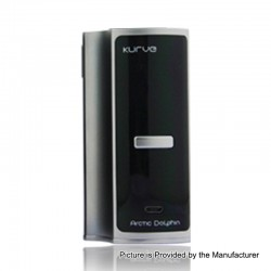 Authentic Arctic Dolphin Kurve 220W TC VW Variable Wattage Box Mod - Black, 5~220W, 2 x 18650