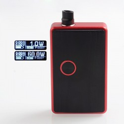 SXK BB Style 70W All-in-One Box Mod Kit w/ USB Port - Red, Aluminum, 1 x 18650