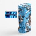 Authentic Vapor Storm ECO Pro 80W TC VW Variable Wattage Box Mod - Blue, ABS, 5~80W, 1 x 18650