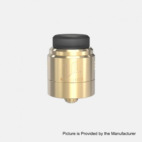 Authentic Vandy Vape Widowmaker RDA Rebuildable Dripping Atomizer w/ BF Pin - Gold, Stainless Steel, 24mm Diameter