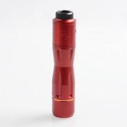 1:1 Get Low Mods GLM V3 Style Hybrid Mechanical Tube Mod + RDA Kit - Red, Copper + Stainless Steel, 1 x 18650