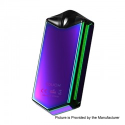 Authentic Asvape Touch 12W 500mAh Pod System Starter Kit - Rainbow, 1.5ml, 1.6 Ohm