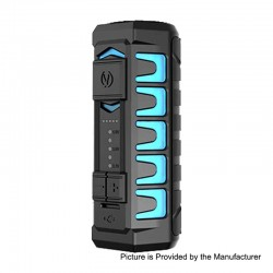 Authentic Vandy Vape AP Apollo 20W 900mAh VV Variable Voltage Box Mod - Frosted Cyan, 3.2~4V