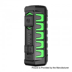 Authentic Vandy Vape AP Apollo 20W 900mAh VV Variable Voltage Box Mod - Frosted Green, 3.2~4V