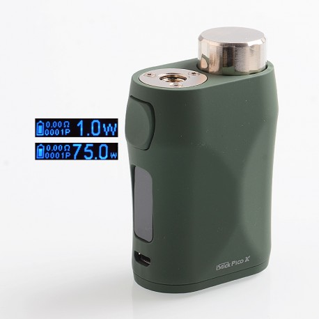 Authentic Eleaf iStick Pico X 75W TC VW Variable Wattage Box Mod - Green, 1~75W, 1 x 18650