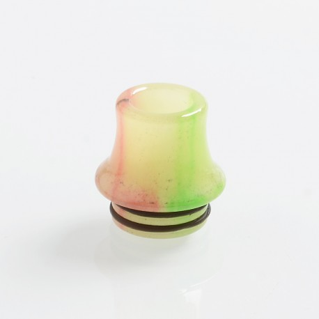 810 Replacement Drip Tip for RDA / RTA / Sub Ohm Tank Atomizer - Light Yellow, Resin, 18mm, Glow-in-the-Dark