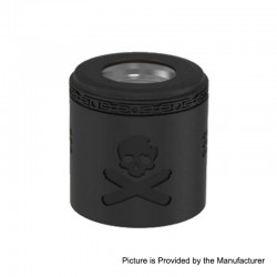 Authentic Vandy Vape Replacement Airflow Cap for Bonza Kit / Bonza V1.5 RDA - Matte Black, Stainless Steel