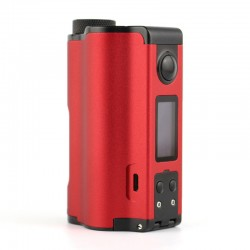 Authentic Dovpo Topside Dual 200W TC VW Variable Wattage Squonk Box Mod - Red, 5~200W, 2 x 18650, 10ml
