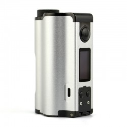 Authentic Dovpo Topside Dual 200W TC VW Variable Wattage Squonk Box Mod - Silver, 5~200W, 2 x 18650, 10ml
