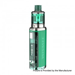 Authentic Wismec SINUOUS V80 80W TC VW Box Mod + Amor NSE Tank Kit - Green, 1~80W, 1 x 18650, 3ml, 0.27 / 1.3 Ohm