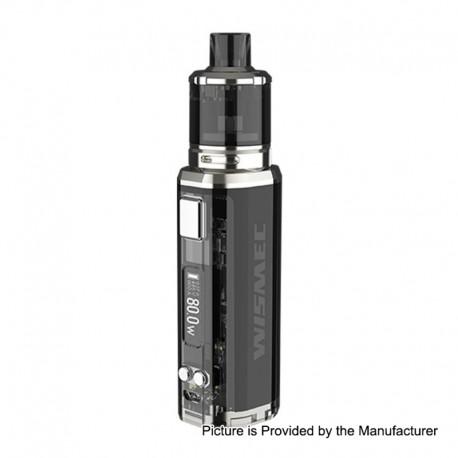 Authentic Wismec SINUOUS V80 80W TC VW Box Mod + Amor NSE Tank Kit - Black, 1~80W, 1 x 18650, 2ml / 3ml, 0.27 / 1.3 Ohm