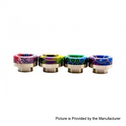 Authentic Asmodus Hybrid BubbaComb 810 Drip Tip for Goon / Kennedy / Reload RDA - Gold Base + Random Color, SS + Resin, 11.6mm