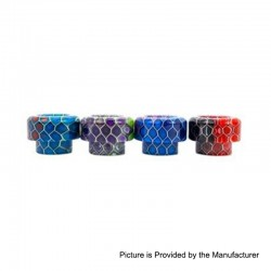 Authentic Asmodus Bubba Comb 810 Drip Tip for Goon / Kennedy / Reload RDA - Random Color, Resin, 11.6mm