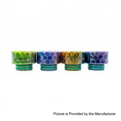 Authentic Asmodus Stumpy Comb 810 Drip Tip for Goon / Kennedy / Reload RDA - Random Color, Resin, 11.6mm