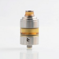 Coppervape Hussar Project X Style RTA Rebuildable Tank Atomizer - Silver, 316 Stainless Steel + PEI, 2ml, 22mm Diameter