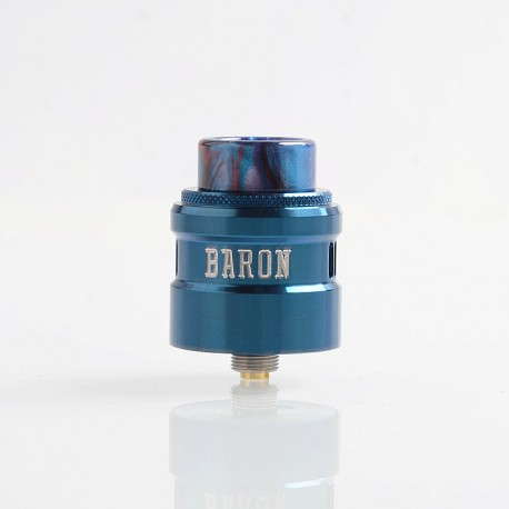 Authentic GeekVape Baron RDA Rebuildable Dripping Atomizer w/ BF Pin - Blue, Stainless Steel, 24mm Diameter