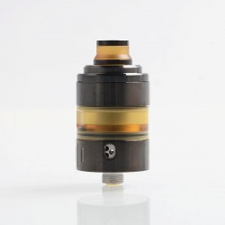 Coppervape Hussar Project X Style RTA Rebuildable Tank Atomizer - Black, 316 Stainless Steel + PEI, 2ml, 22mm Diameter