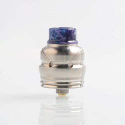 Authentic Wotofo Elder Dragon RDA RYUJIN RDA Rebuildable Dripping Atomizer w/ BF Pin - Silver, Stainless Steel, 22mm Diameter