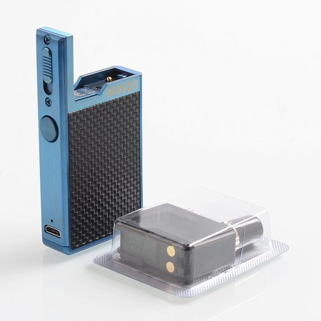 Authentic Lost Vape Orion Q 17W 950mAh Pod System Starter Kit - Blue Weave, 2ml, 1.0 Ohm