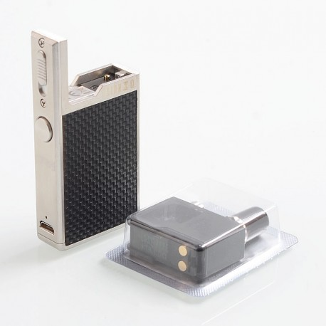 Authentic Lost Vape Orion Q 17W 950mAh Pod System Starter Kit - Silver Weave, 2ml, 1.0 Ohm