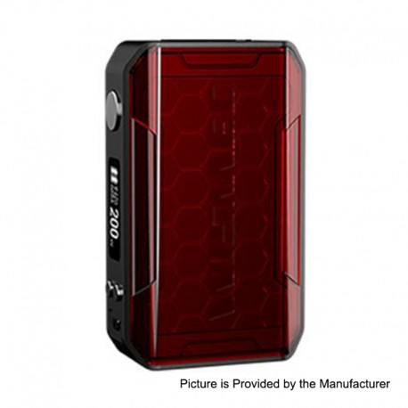 Authentic Wismec SINUOUS V200 200W TC VW Variable Wattage Box Mod - Red, 1~200W, 2 x 18650