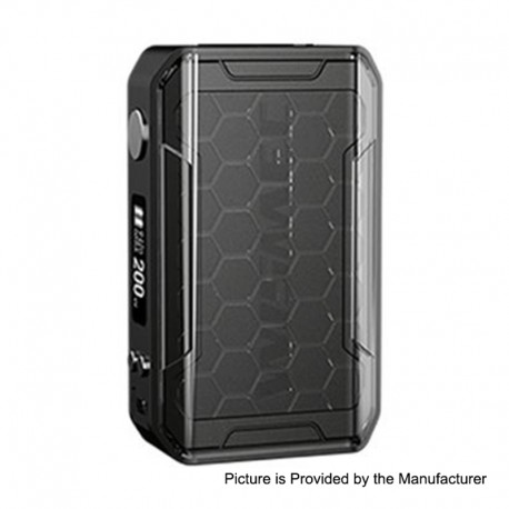 Authentic Wismec SINUOUS V200 200W TC VW Variable Wattage Box Mod - Black, 1~200W, 2 x 18650