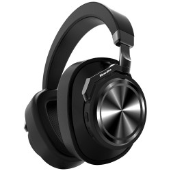 Bluedio T6 Active Noise Cancelling Headphone Wireless Bluetooth Headset with Microphone - Black