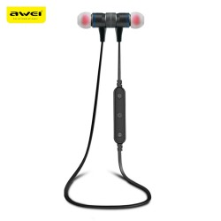 Awei B922BL Magnet Attraction Wireless Bluetooth 4.2 Stereo Sports Headphones - Black
