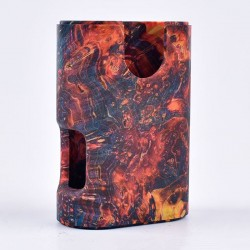 ShenRay Replacement Stabilized Wood Chassis for Armor Squonk Box Mod - Red Magma