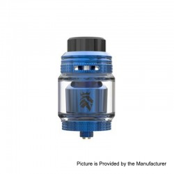 Authentic KAEES Solomon 3 RTA Rebuildable Tank Atomizer - Blue, Stainless Steel, 5.5ml, 25mm Diameter