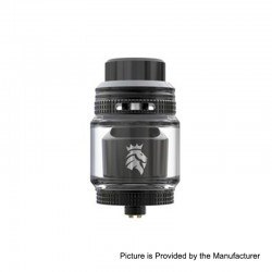 Authentic KAEES Solomon 3 RTA Rebuildable Tank Atomizer - Black, Stainless Steel, 5.5ml, 25mm Diameter
