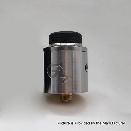 Get Low Mods GLM V3 Style RDA Rebuildable Dripping Atomizer - Silver, Stainless Steel, 24mm Diameter