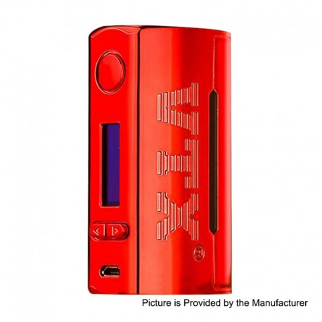 Authentic VapeCige VTX 100W TC VW Variable Wattage Box Mod - Red, ABS, 5~100W, 1 x 18650 / 26650