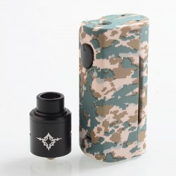 Authentic Rincoe Manto Mini 90W VW Box Mod + Metis RDA Kit - Camo, PC, 1~90W, 1 x 18650, 24mm