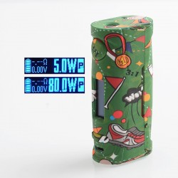 Authentic Vapor Storm Puma Baby 80W TC VW Variable Wattage Box Mod - Football, 5~80W, 1 x 18650