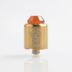 Authentic Ystar Hell Demons RDA Rebuildable Dripping Atomizer w/ BF Pin - Gold, Stainless Steel, 20mm Diameter