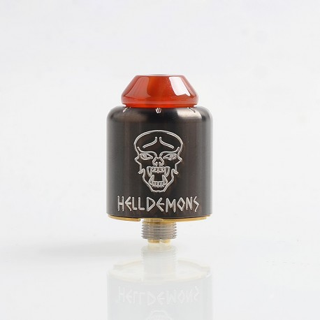 Authentic Ystar Hell Demons RDA Rebuildable Dripping Atomizer w/ BF Pin - Gun Metal, Stainless Steel, 20mm Diameter