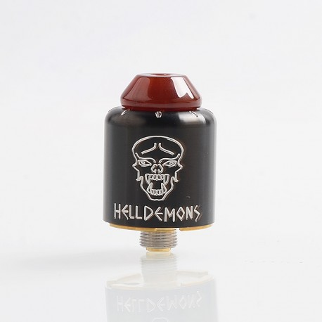 Authentic Ystar Hell Demons RDA Rebuildable Dripping Atomizer w/ BF Pin - Black, Stainless Steel, 20mm Diameter