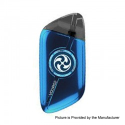 Authentic VOOPOO Rota Spinning 10W 340mAh Pod System Starter Kit - Blue, 1.5ml, 1.5 Ohm