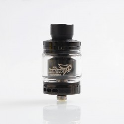 Authentic Oumier Bombus RTA Rebuildable Tank Atomizer - Black, Stainless Steel, 2ml, 24.5mm Diameter