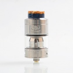 Authentic Hellvape Hellbeast Sub Ohm Tank Clearomizer - Silver, Stainless Steel, 4.3ml, 24mm Diameter