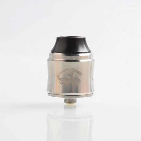 Authentic OBS Cheetah 3 III RDA Rebuildable Dripping Atomizer w/ BF Pin - Silver, Stainless Steel, 25mm Diameter