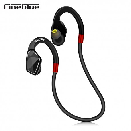 Fineblue MT - 2 Wireless Bluetooth Earphone Stereo Sports Earbuds Sweatproof with Mic - Black