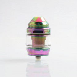 Authentic Advken Owl Sub Ohm Tank Clearomizer - Rainbow, Stainless Steel + Pyrex Glass, 4ml, 25mm Diameter
